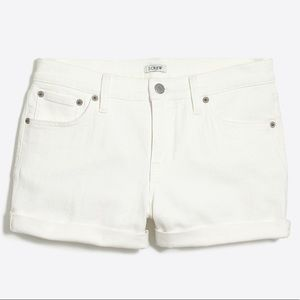 J. Crew Off White Jean Shorts